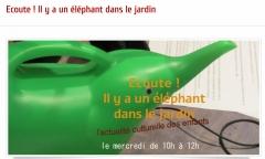 Véronique Soulé sur radio Aligre dans l'émission Ecoute ! il y a un éléphant dans le jardin.jpg